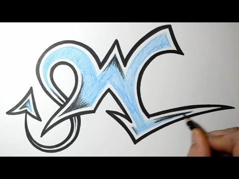 How to Draw Graffiti Letters - W - YouTube