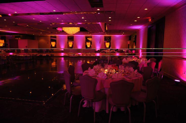 pink Uplights decor