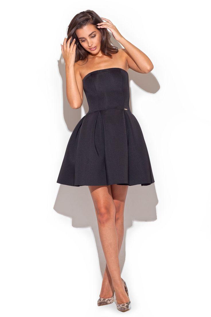 Katrus K223 Sukienka - czarny