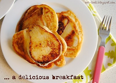 Pear Pancakes: Breakfast Ideas, Pears Pancakes, Glutenfr Pancakes, Food, Delicious Pears, Gluten Fre Pancakes, Fluffy Pears, Pancakes Mixed, Pears Separates