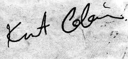 I have this signature of Kurt Cobain's tattooed on my right arm! ♥