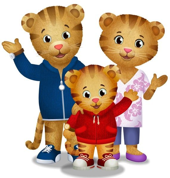 Daniel The Tiger Family Iron On Transfer Etsy Daniel Tiger Daniel Tiger S Neighborhood Daniel Tiger Party