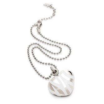 Jewellery - Zebra Necklace - Silver plated necklace w/ White enamel