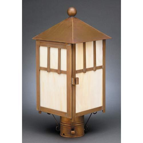 outdoor lantern lighting. antique copper large outdoor postmount lantern with white glass in lighting