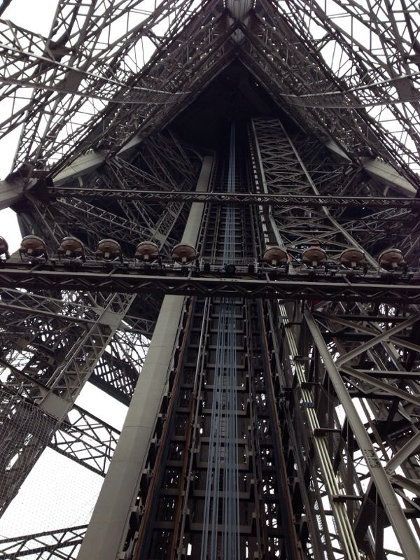 Tour Eiffel, Paris.    (View from the second floor, yes I partly climbed it).  Architect- Gustave Eiffel.
