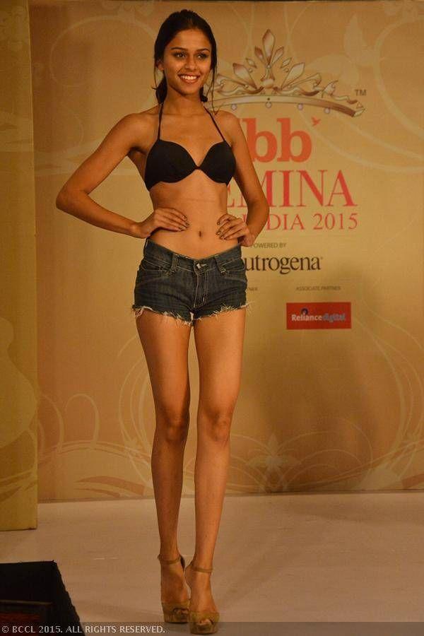 fbb Femina Miss India 2015 finalist Meghna Mittal during the Centro Miss Rampwalk.