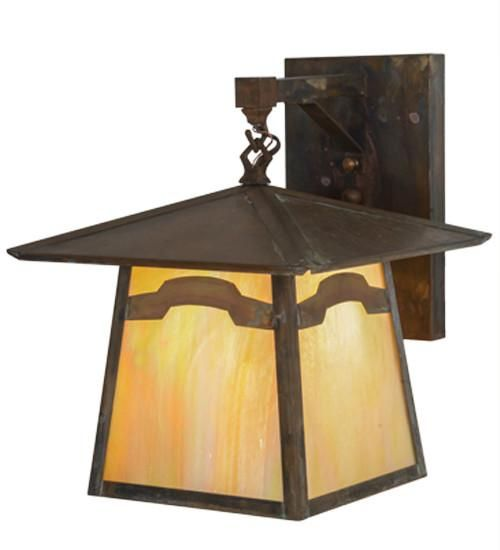 """12""""W Stillwater Mountain View Hanging Outdoor Wall Sconce"""
