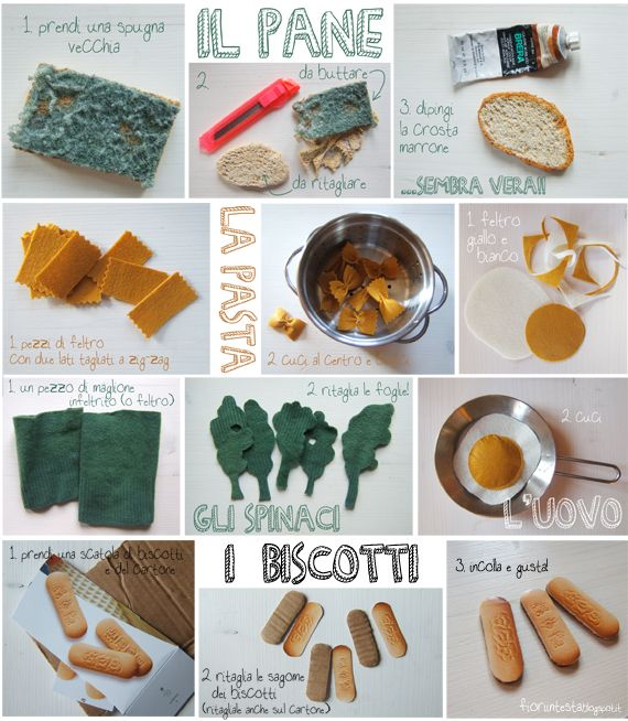 DIY recycled food for playing by FIORI IN TESTA