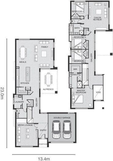 Kitchen/Living/Laundry/Master bed at front of house upstairs/childs retreat/bathroom