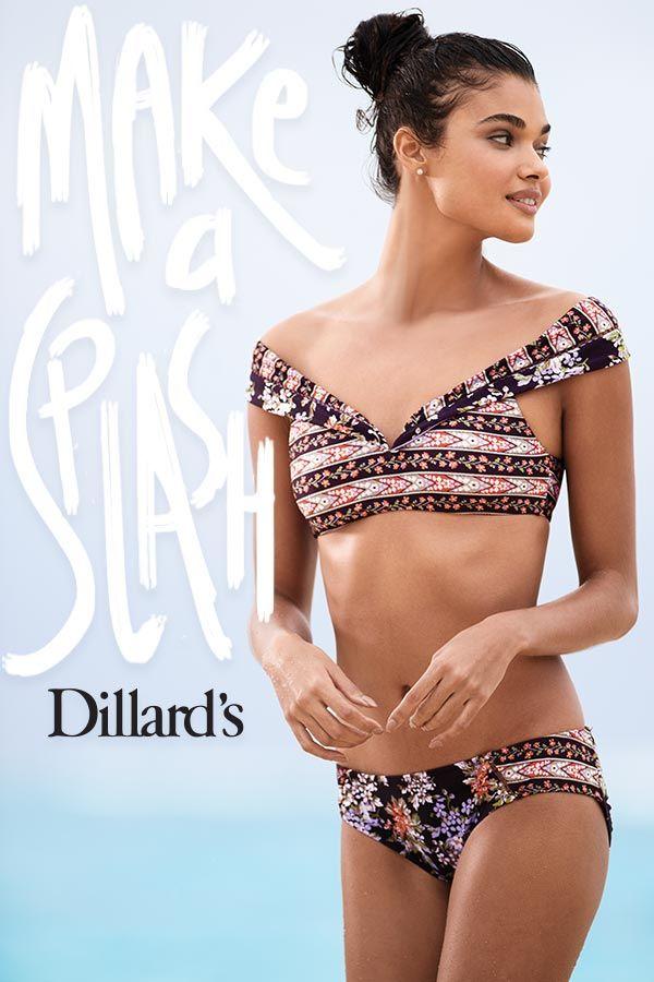 d8d8fa7591 Make a Splash in the hottest swim trends at Dillard's! | Make A ...