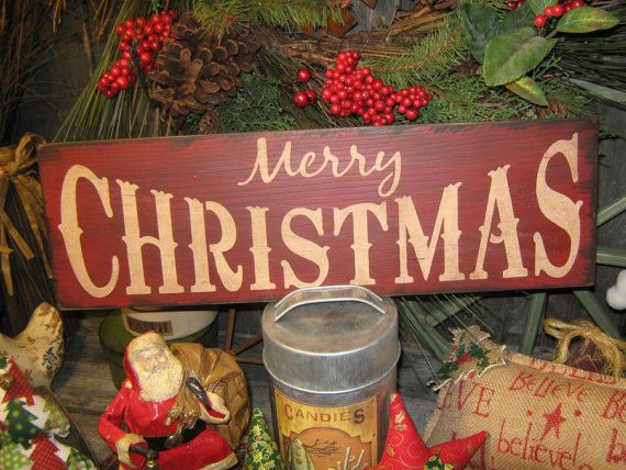 Primitive Large Holiday Wooden Hand by JustHanginAroundPrim, $18.95