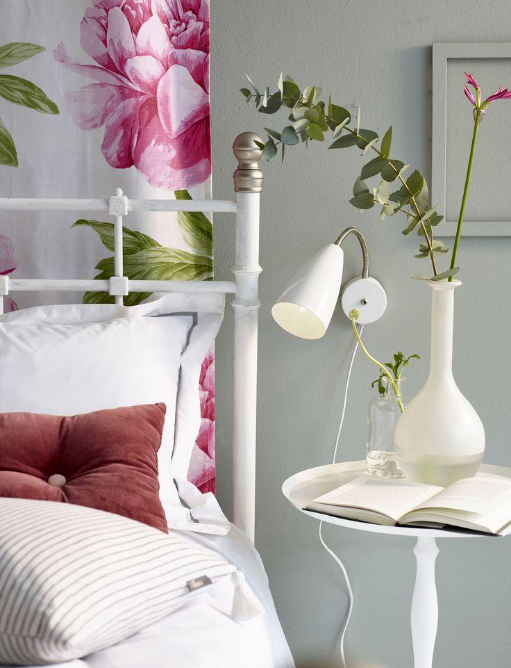 Med en vepa istället för sänggavel är det enkelt att byta uttryck efter säsong i sovrummet