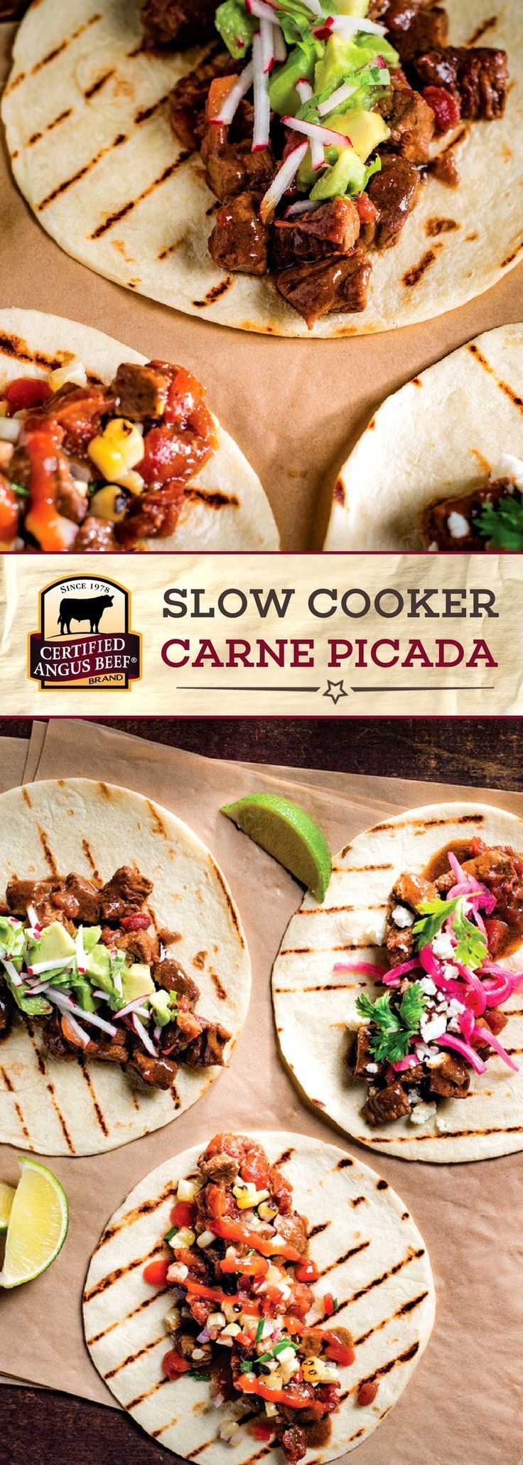 Certified Angus Beef®️️️️️️️ brand Slow Cooker Carne Picada is an EASY recipe that you can make in your SLOW COOKER! The best bottom round roast seasoned perfectly with chili powder, tomatoes, chilis and cumin makes this dish STAND OUT! Serve it over rice or in tacos or burritos for a SIMPLE, tasty meal. #bestangusbeef #certifiedangusbeef #beefrecipe #easyrecipes #slowcookerrecipes