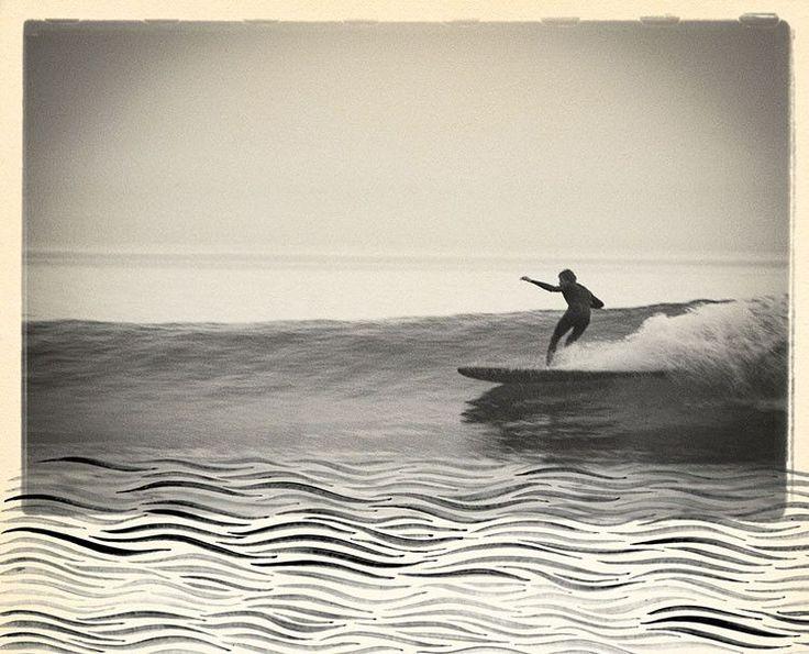 "Surfing Art Print ""Liquid Pull"" - Mixed Media – Matthew Allen Art"
