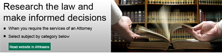 Find a lawyer | law firm | attorney in South Africa | Research the law visit http://lawyer365.co.za/  for more