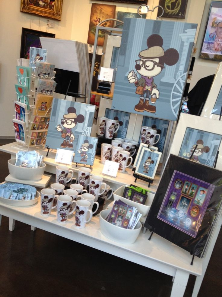 "HIPSTER MICKEY - ""Hipster Haunt"" art and merchandise now available at WonderGround Gallery,"