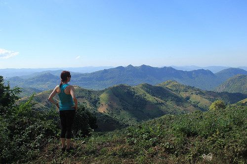 Myanmar; Admiring the views, Kalaw to Inle Lake trek