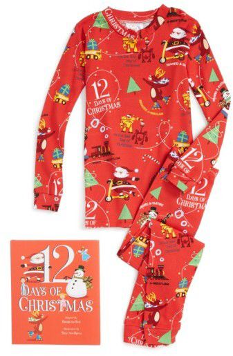 Books to Bed 12 Days of Christmas Fitted Two-Piece Pajamas & Book Set  (Toddler, Little Kid & Big Kid)