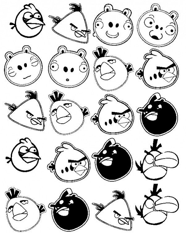 Top 40 Free Printable Angry Birds Coloring Pages Online