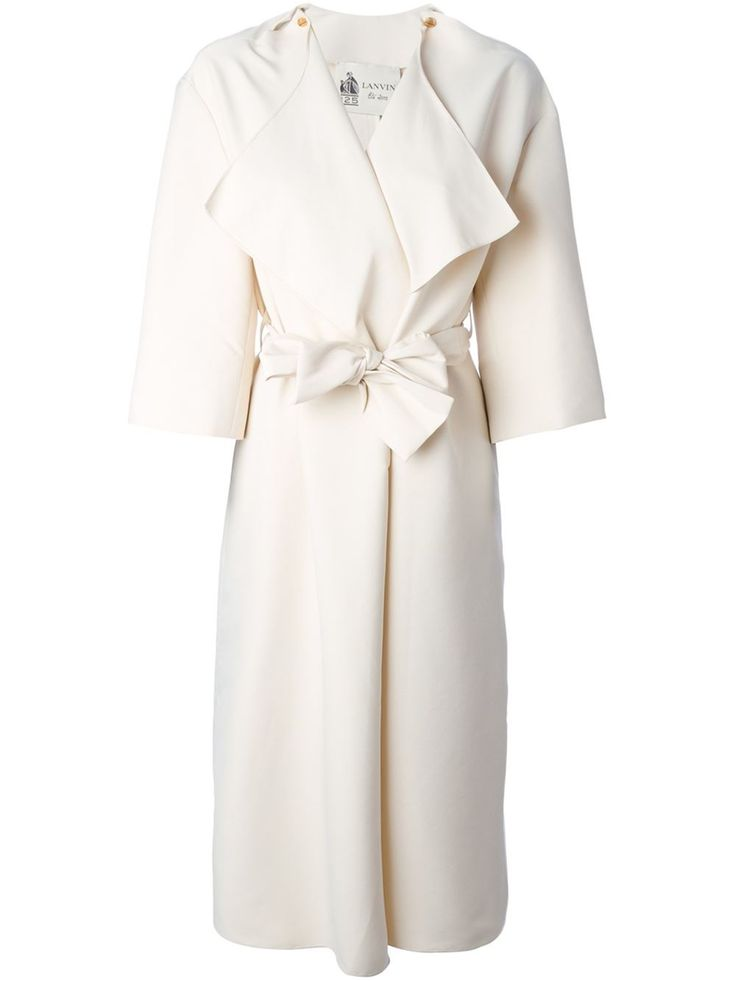 Lanvin Belted Trench Coat - Maria Store - Farfetch.com