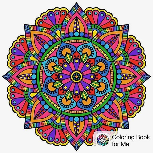 May They Be As Bright This Amazing Mandala From Coloring Book For Me App Colored By Sweetpaat Coloringbookforme Colorworld