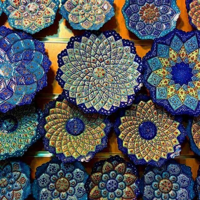 Iranian Art -Minakari or Enemelling / هنر زیبای مینا کاری