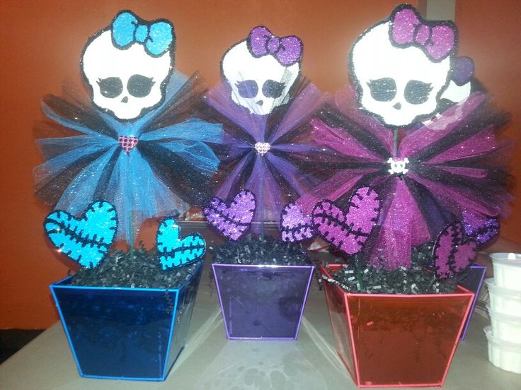 Monster High Centerpieces DIY