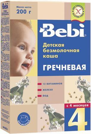 Bebi Безмолочная гречневая (с 4 месяцев) 200 г  — 102р. -------- Каша безмолочная Bebi гречневая с 4 мес. 200 г. Гречневую кашу часто рекомендуют для начала детского прикорма. Крупа содержит много белков, клетчатку, способствующую нормальной работе ЖКТ, витамины и полезные минералы. Продукт может способствовать профилактике запоров. Каша обогащена железом, йодом, важнейшими витаминами (A, C, E, D, В1, В2, В6). Железо участвует в процессах кроветворения и переноса кислорода к клеткам и тканям…