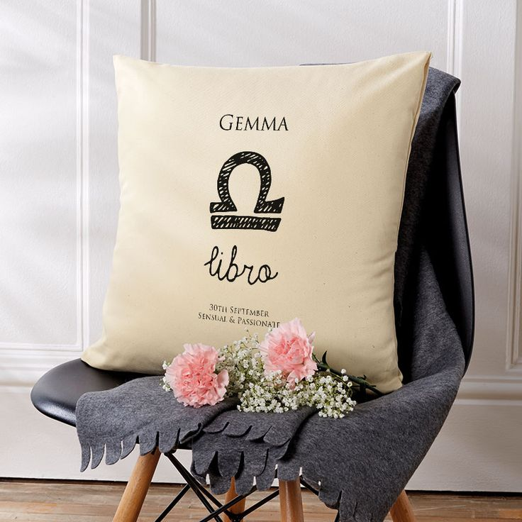 Beautiful💕Personalised Zodiac Star Sign Horoscope Cushions. Easy to Create & Preview On Screen Before You Buy. A perfect gift for any occasion. Fast Free Delivery.