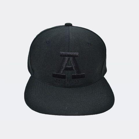 Unisex - Classic black on black snapback from Audace Copenhagen - 80% Acrylic 20% wool http://www.audace.dk/collections/caps/products/a-copenhagen-snapback-sort