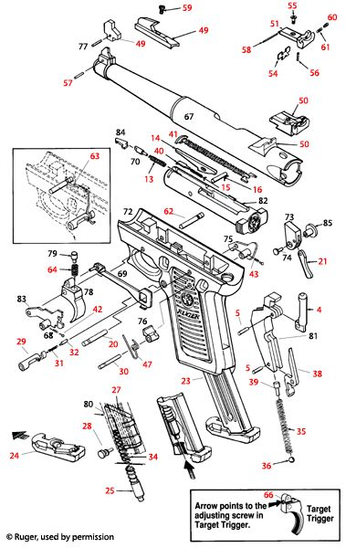 ruger-parts net  45 schematic   0 00