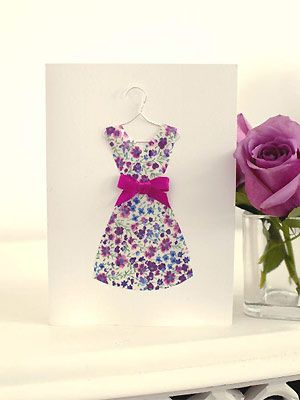 Dress on hanger card http://www.allaboutyou.com/prima/cardmaking-hanging-dress-card