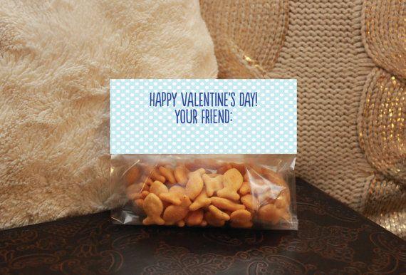 Valentine's Day Favor Treat Bag Topper - Glad We're In The Same School - Printable Valentine for boys - Instant Download - SprinkledDesigns.com
