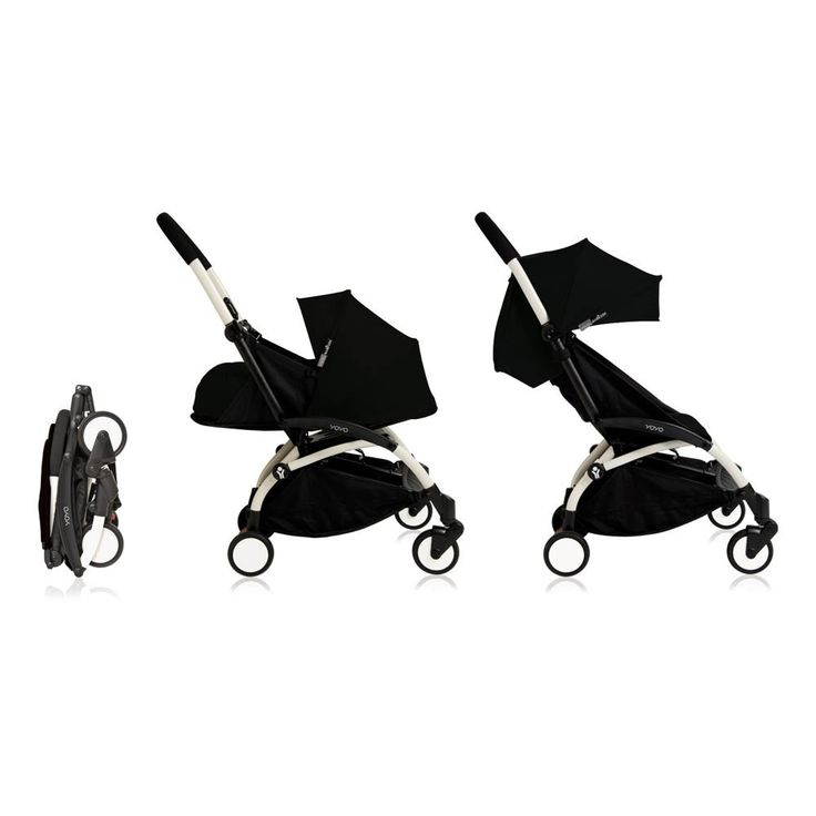 Poussette complète new Yoyo+ évolutive 0-5 ans, châssis blanc Babyzen Bébé- Large choix de Design sur Smallable, le Family Concept Store - Plus de 600