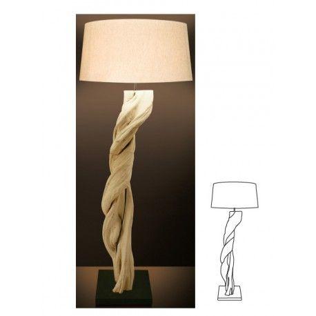 Δώστε στον χώρο σας μια γήινη αύρα με το φωτιστικό δαπέδου VIVIEN από φυσικό ξύλο και καπέλο από ύφασμα. Ιδανική επιλογή για κάθε στυλ, μοντέρνο ή κλασικό!