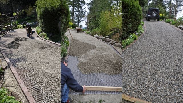 Sloped Driveway Installation Using Core Gravel Foundations
