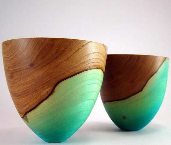 Blue Carnival II - Elm Bowls. I kick myself that I didn't buy these. :( #lifeinstyle #greenwithenvy