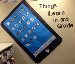 Inspiration for Back to School Bulletin boards .......Technology Theme.