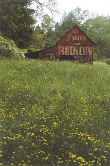 time stands still with these old barns that have advertising painted on them along rural American...this one for Rock City