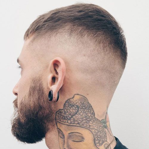 High Razor Taper Fade with Short Fringe