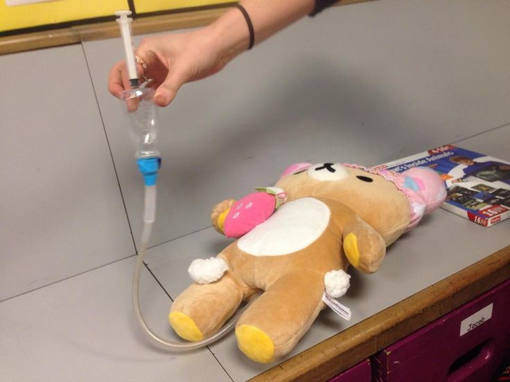 Medical prep for enema loose parts syringe tubing