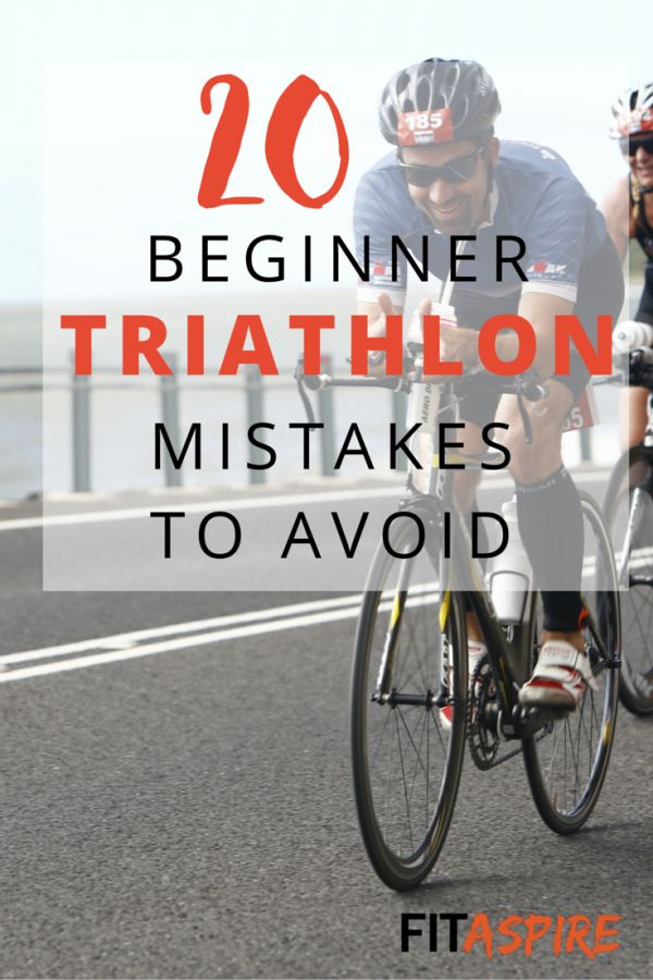 Ready to try your first triathlon? Make sure you avoid these 20 Beginner Triathlon Mistakes!