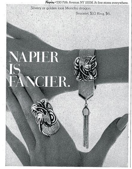 Vintage Napier jewelry ad