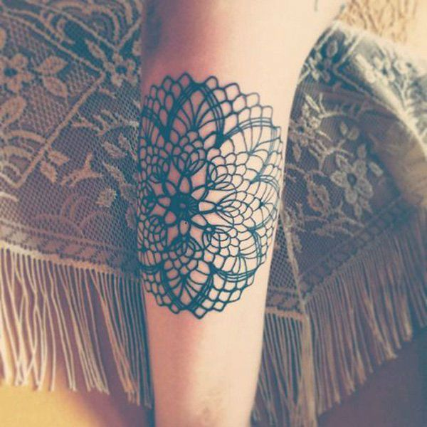 46 Feminine Lace Tattoo Designs