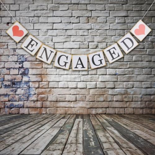 White Engaged Banner Wedding Party Bunting Banner Engagement Decoration 2 4M | eBay