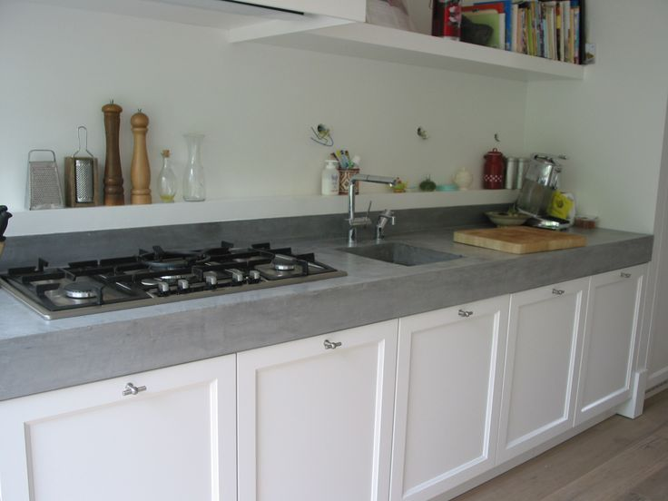 Witte Keuken Met Betonnen Werkblad : Flyer Ideas for Granite Tops