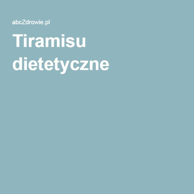 Tiramisu dietetyczne