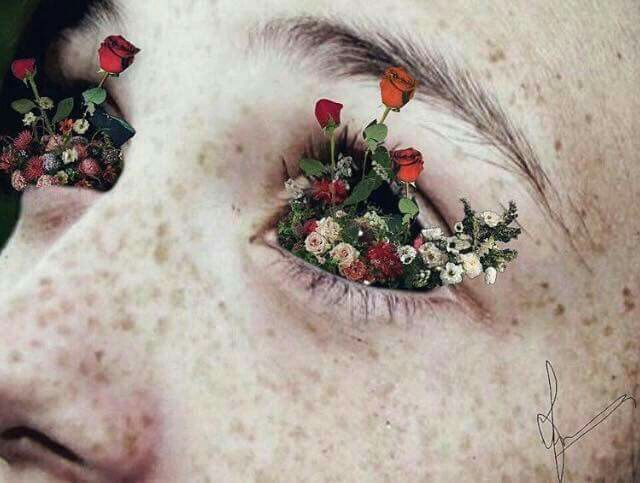 -I saw flowers when I looked at you. (Art/Photography/Nature/Beauty/Simplicity/Eyes)