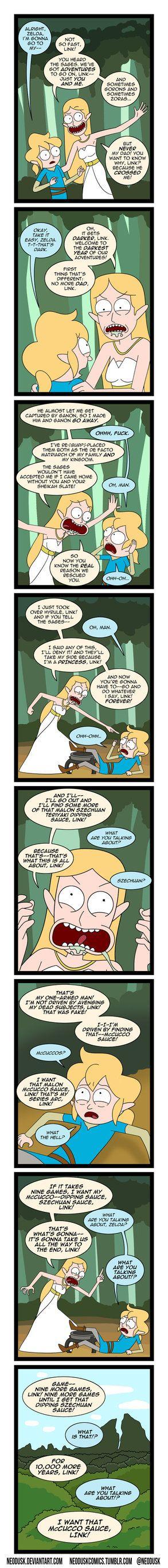 Link and Zelda Season 3 Episode 1 by Neodusk.deviantart.com on @DeviantArt