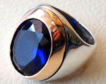 anillo de hombre puro jaspe rojo piedra natural por AbuMariamJewels